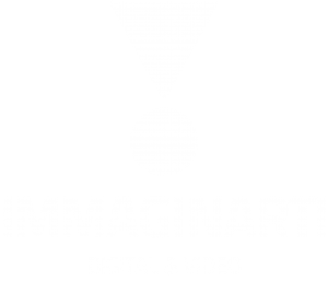 IMMAGINARTI Digital & Video Logo BIANCO